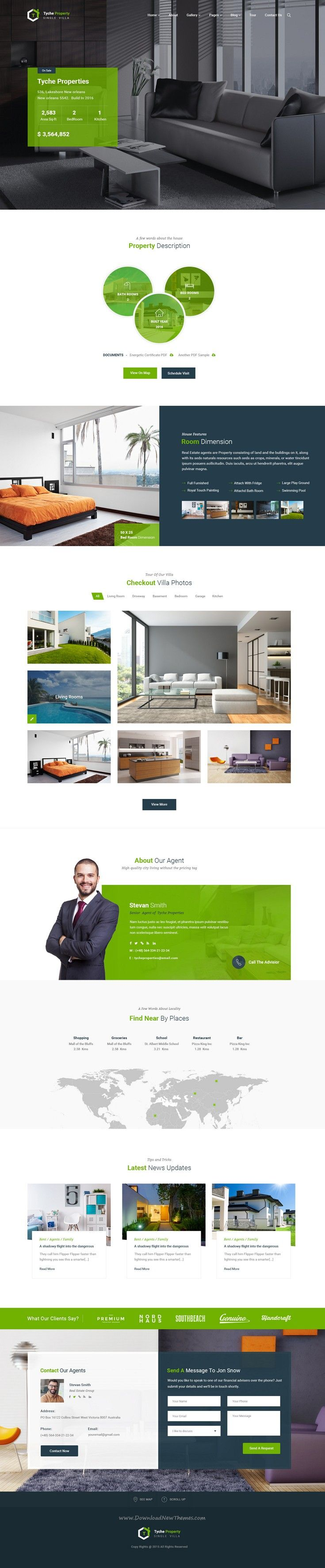 Tyche Properties is real estate PSD #Template suitable for all types of Single…