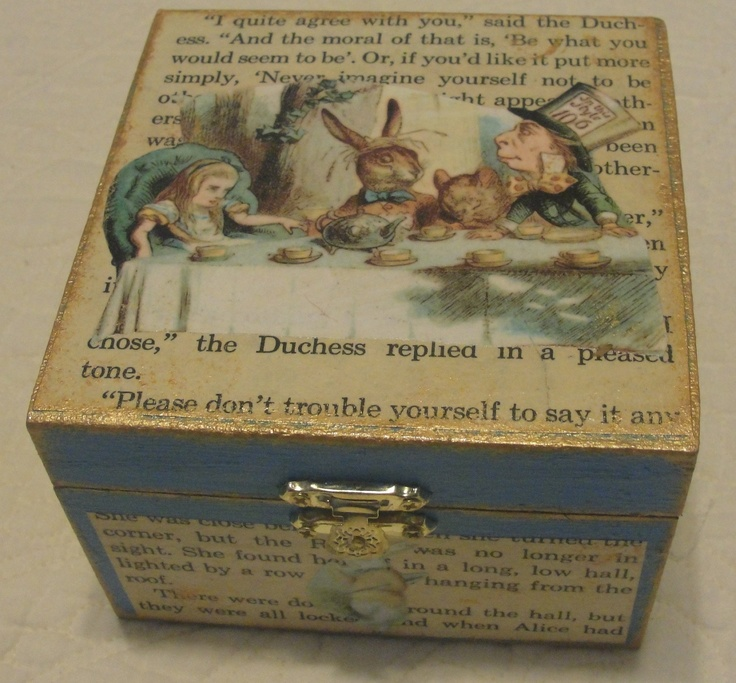 Alice in Wonderland Decorative Box by Laura Tompkins Alice in
