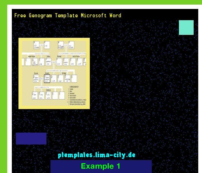 genogram template microsoft word