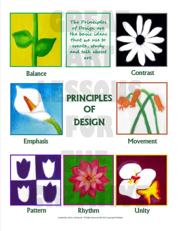 Principles of Design using a floral theme