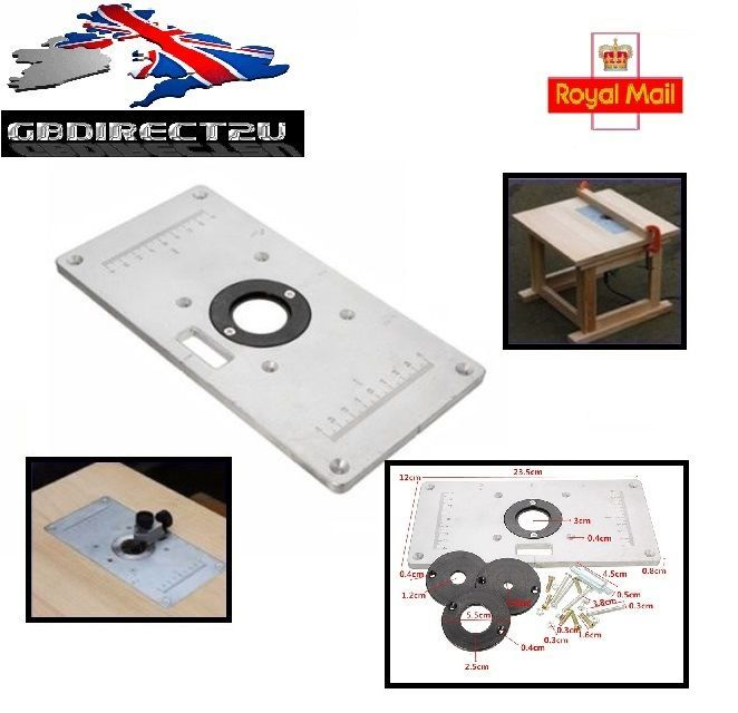 235mm x 120mm x 8mm Aluminum Router Table Insert Plate For Woodworking Bench UK • £28.99 - PicClick UK