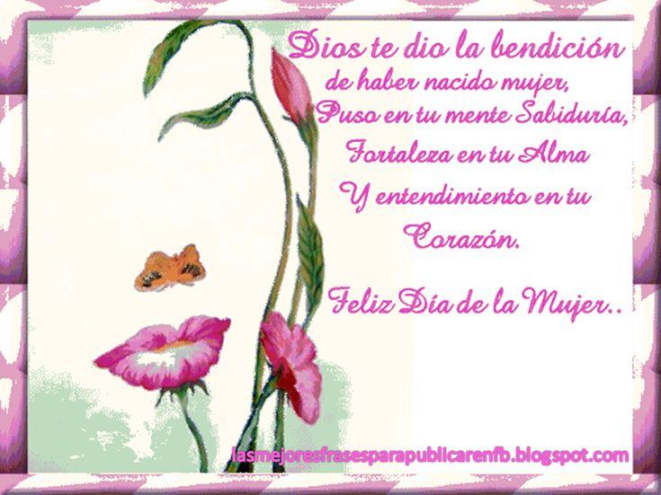 para la mujer de dios | Frases De Feliz Día Internacional De La Mujer ...