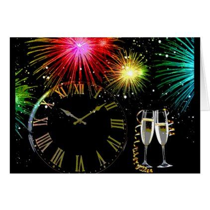 New Years Eve Clock Card Greetings - new years eve happy new year party design ideas holiday party