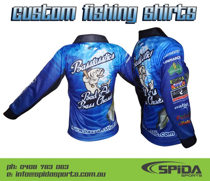 Sublimated Fishing Shirts - Create your own design. http://promocorner.com.au/sublimated-fishing-shirts/