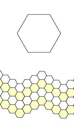Free English Paper Piecing Hex Wave Pattern