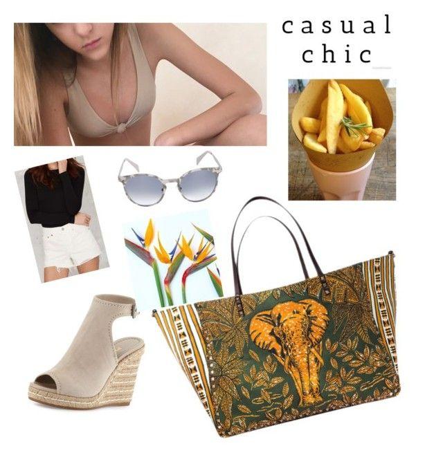 """Not so casual !"" by babitamia on Polyvore featuring moda, Valentino, Prada, Levi's e Italia Independent"