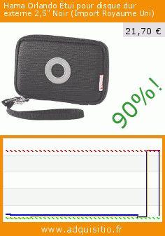 """Hama Orlando Étui pour disque dur externe 2,5"""" Noir (Import Royaume Uni) (Accessoire). Réduction de 90%! Prix actuel 21,70 €, l'ancien prix était de 211,76 €. http://www.adquisitio.fr/hama/orlando-%C3%A9tui-disque-dur"""