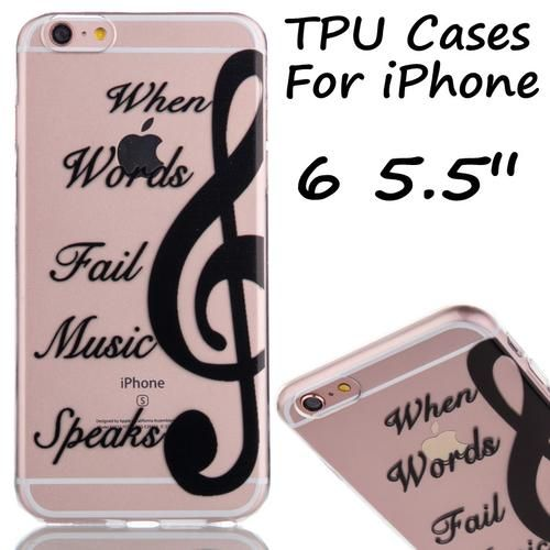 Ultra thin musical note Soft Mobile Phone Cases For iPhone