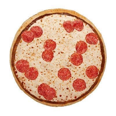 Double pepperoni cheese pizza. Mmmmm...  Cheesy goodness...