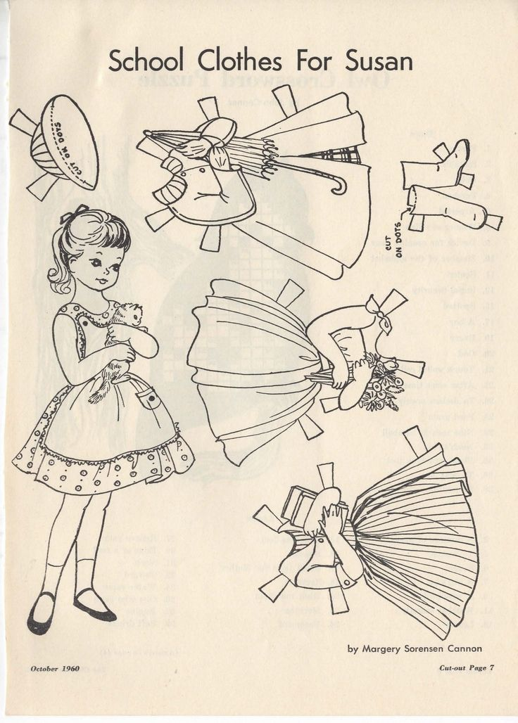 721 best arielle gabriel: paper dolls black and white - free pd ... - Paper Doll Clothes Coloring Pages