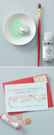 Make scratch-off save-the-dates with just a few tools | marthastewartweddings.com