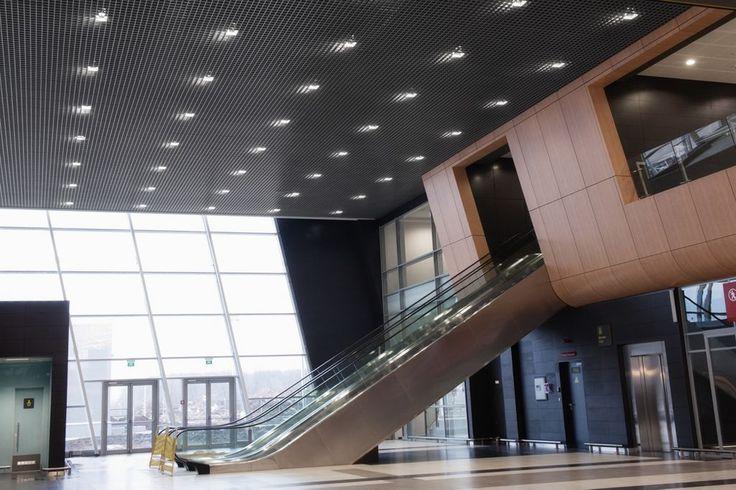 Lotnisko w Kazan, Armstrong, sufity podwieszane, ceiling, sufit akustyczny, acoustic, Metal Cellio
