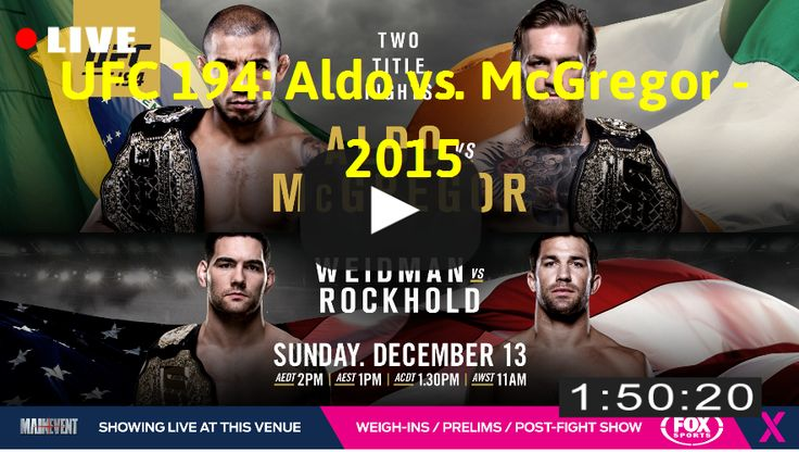 Streaming: http://movimuvi.com/youtube/ZmIyNmpPcHV4OTVoRU1nVjZKcFFmdz09  Download: MONTHLY_RATE_LIMIT_EXCEEDED   Watch UFC 194: Aldo vs. McGregor - 2015 Full Movie Online  #WatchFullMovieOnline #FullMovieHD #FullMovie #UFC 194: Aldo vs. McGregor #2015