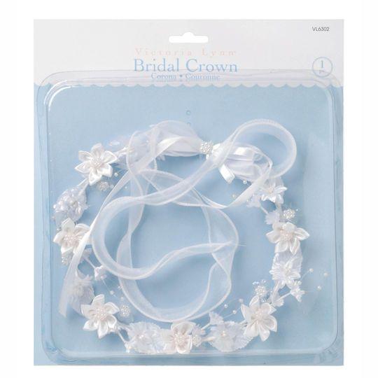 Victoria Lynn™ White Bridal Floral Crown