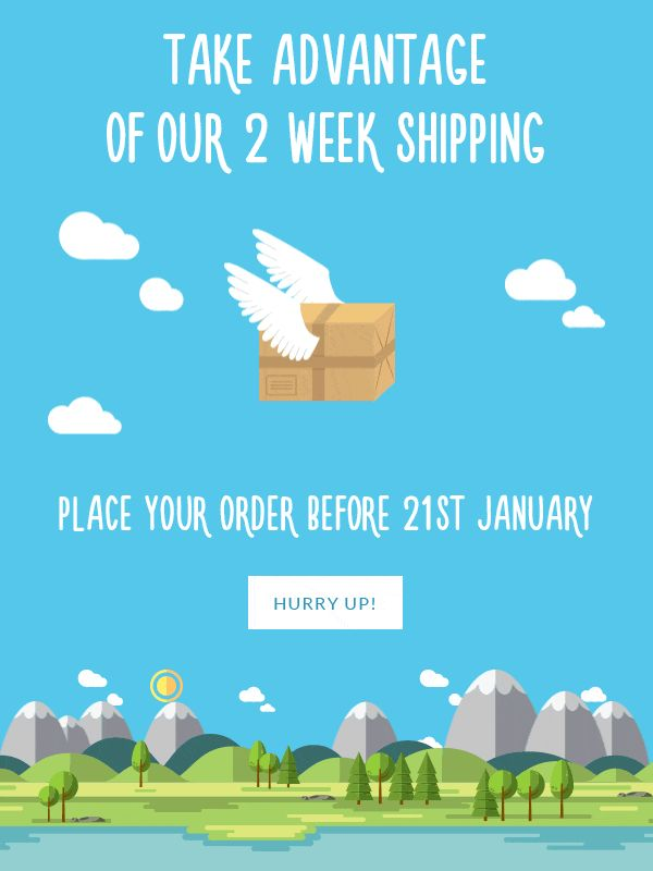 Place your order before January 21st! Take advantage of our 2 week delivery. Visit Tailor4less.com