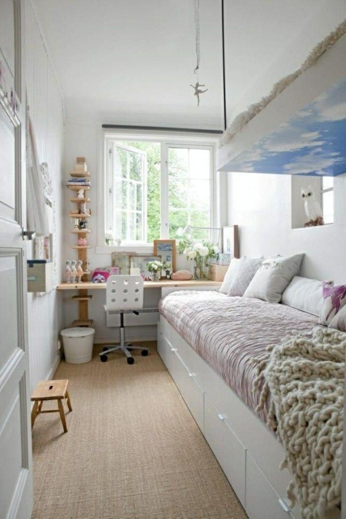 comment aménager une petite chambre dans un espace étroit bien meublé