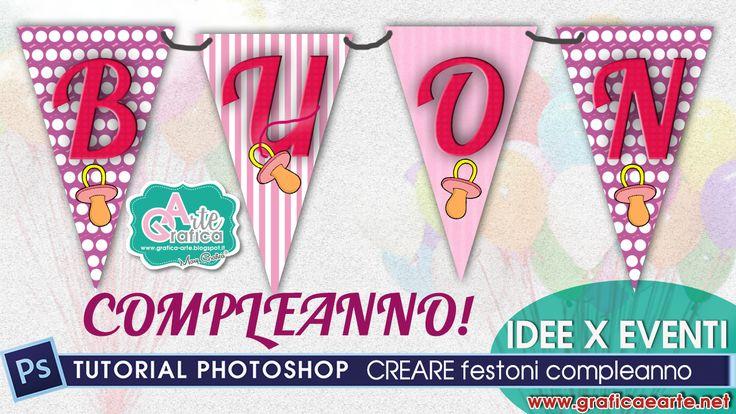 Ciao a tutti, un tutorial della serie IDEE x EVENTI, con 3 idee con photoshop su come realizzare delle fantasie per dei festoni, per un compleanno :D