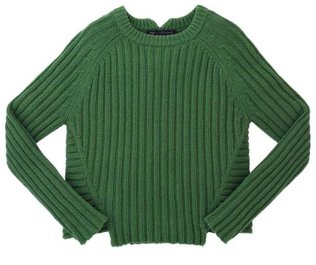 Marc by Marc Jacobs Cotton Wool Sweater in Dark Moss