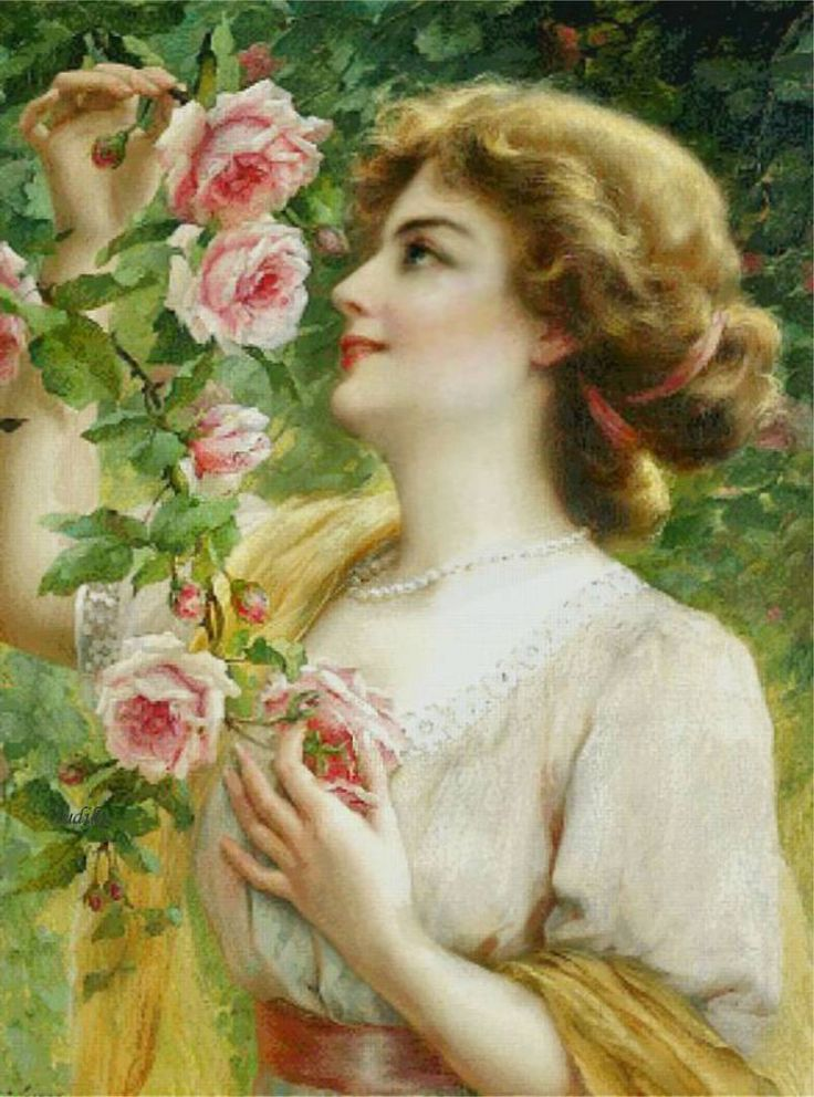 22 Best Images About Paintings Of Women With Roses On
