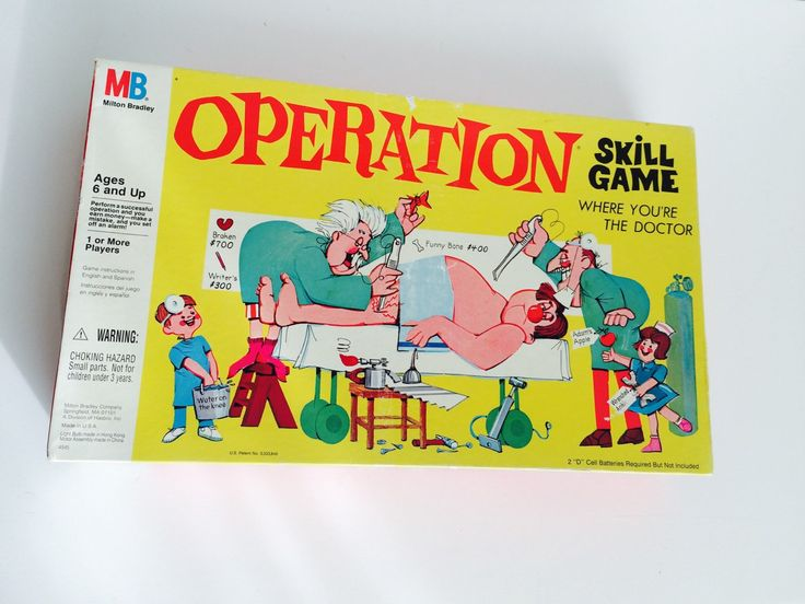Vintage OPERATION Board Game | Milton Bradley | Complete! with working NOSE illumination by BrocanteBedStuyHOMME on Etsy