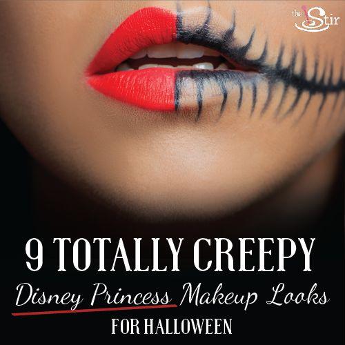 9 Terrifying Disney Princess Makeup Looks Perfect for Halloween (PHOTOS) | The Stir