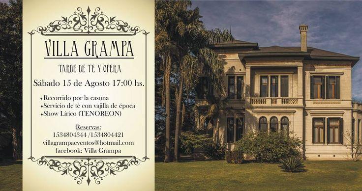Viajemos al campo y .... Algo más: Bella Epoque en la Argentina. Hoy nos vamos a Temperley, te presentamos Villa Grampa