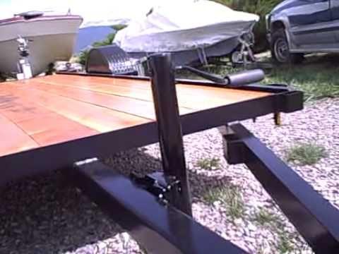 6x12 flatbed trailer for sale .AVI