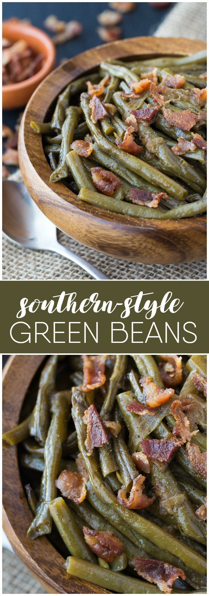 Southern Style Green Beans - A simple slow cooker recipe made with beans, bacon and onions! (Paleo Recipes Slow Cooker)