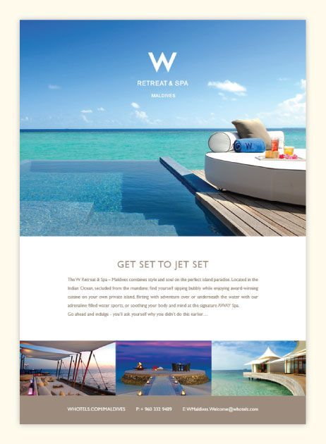 Great example of a clean hotel email. Simple. Beautiful. Hero is great. Copy is clean. The collage at the bottom is really nice. The only downside, no CTA.