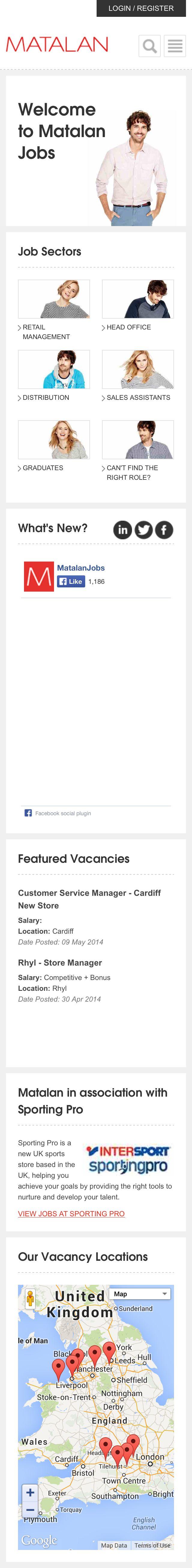 Matalan Mobile Responsive career site