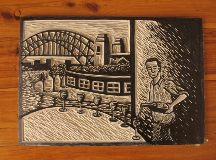 Carved Lino ready to print