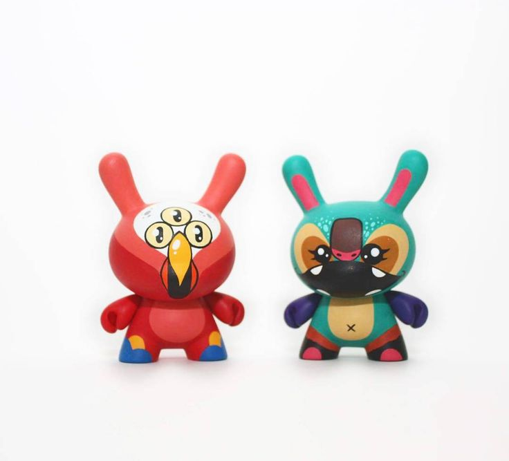 Cuko & Pasko  On sale now in my shop!  #wuzone #custom #dunny #thewuz #artoy #onsale #painting #kidrobot #collectible #diy #geek #vinyl #vinyltoy #toy #acrylic by thewuz
