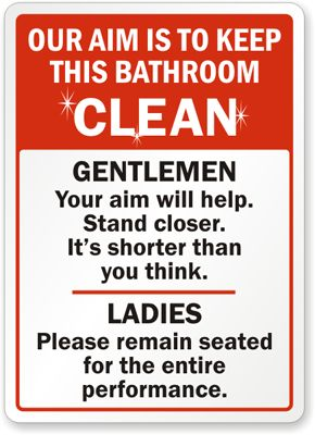 Bathroom Signs Rules 7 best restroom reminders images on pinterest | bathroom ideas
