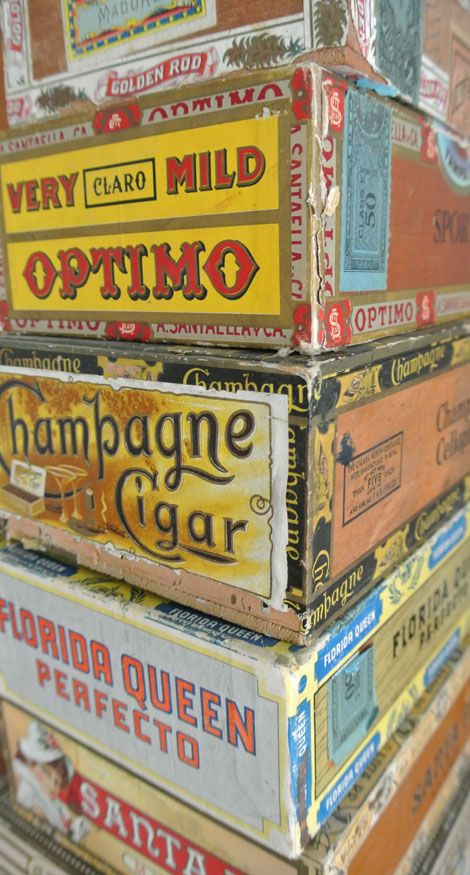 Vintage Cigar Box Collection