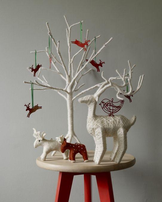 Scandi and woodland themed decorations #Habitat
