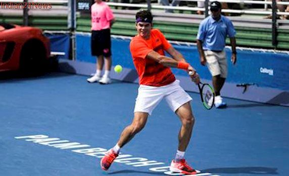 Milos Raonic sets up Delray Beach final with Jack Sock in win over Juan Martin del Potro