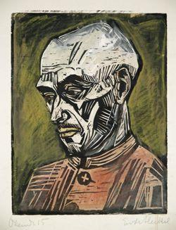 Ernst Ludwig Kirchner (1880 -1938) Na het uiteenvallen van Die Brücke werkt hij door, maar slaagt hij er niet in zijn stijl verder te ontwikkelen. Als hij in 1914 in dienst gaat (naar eigen zeggen als 'onvrijwillig vrijwilliger'), kan hij dit niet doorstaan. In 1915 stort hij in, waarna hij uit de krijgsdienst ontslagen wordt. Hij wordt dan behandeld in verschillende sanatoria, om daar van zijn drugsverslavingen, achtervolgingswaan en verlammingsverschijnselen af te komen.