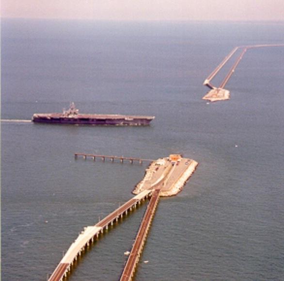 Chesapeake bay bridge in Virginia. Been there dun tht.