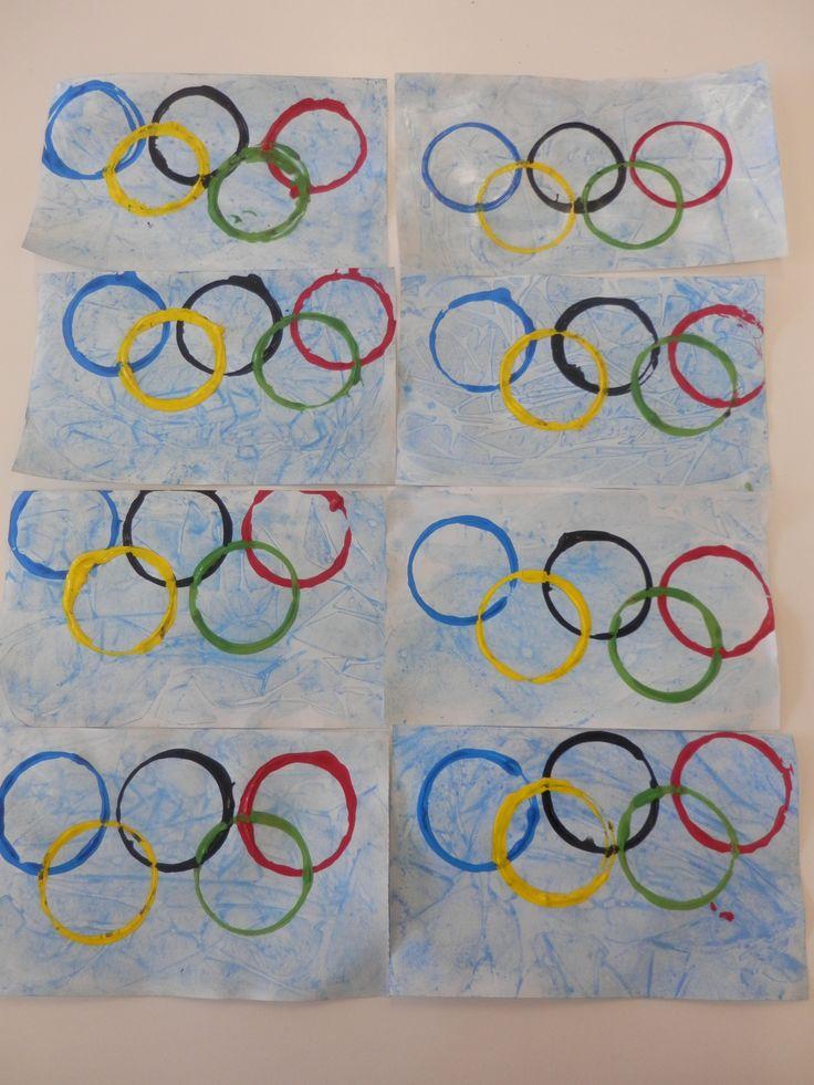 Bricolage Anneaux Olympiques givrés : résultat final