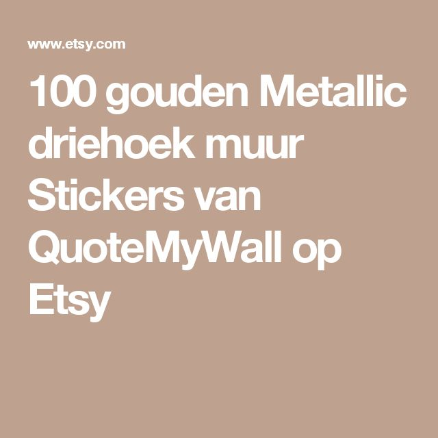 100 gouden Metallic driehoek muur Stickers van QuoteMyWall op Etsy