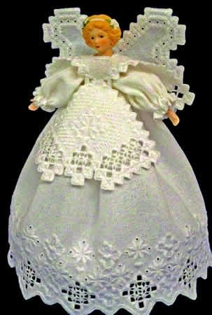 Guardian Angel (Hardanger Embroidery) , great for Christmas