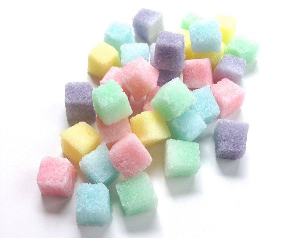 Pastel Colored Sugar Cubes for Tea Parties by TrioArtisanDesigns