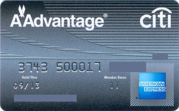 American Express Aadvantage citi US (Citibank, United States of America) Col:US-AE-0132