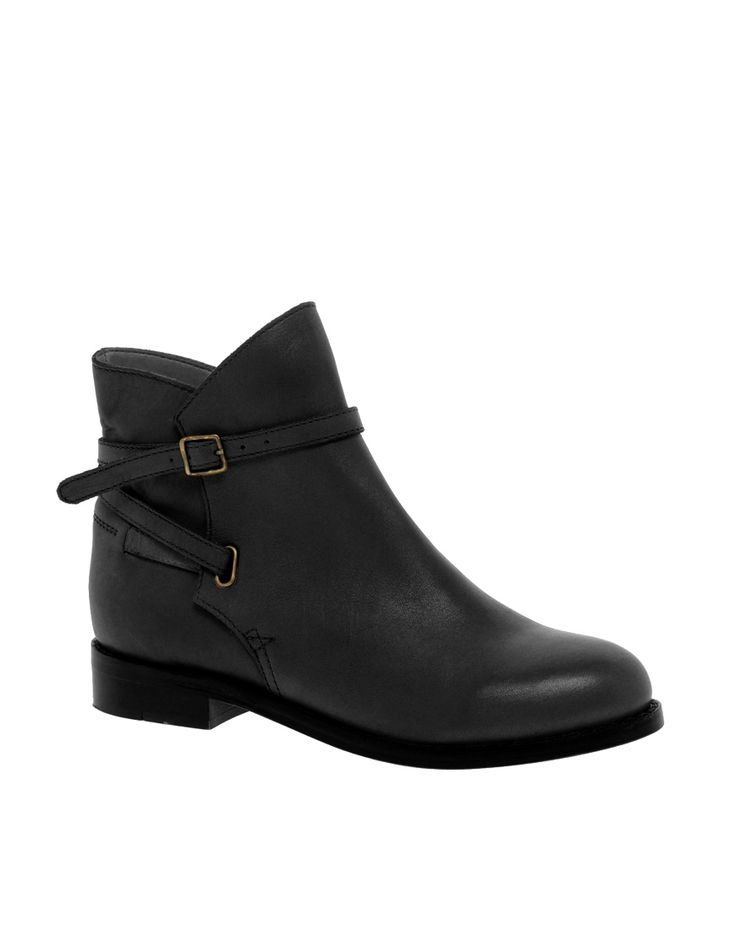Bottines Jodhpur cuir noir