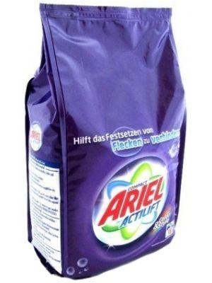 Nowy niemiecki Ariel COLOR do prania tkanin kolorowych. Posiada aktywną formułę chroniącą kolory, sprawiającą, że Twoje ubrania dłużej wyglądają jak nowe. Dodatkowo, składnik ten zapobiega szarzeniu się pranych tkanin.