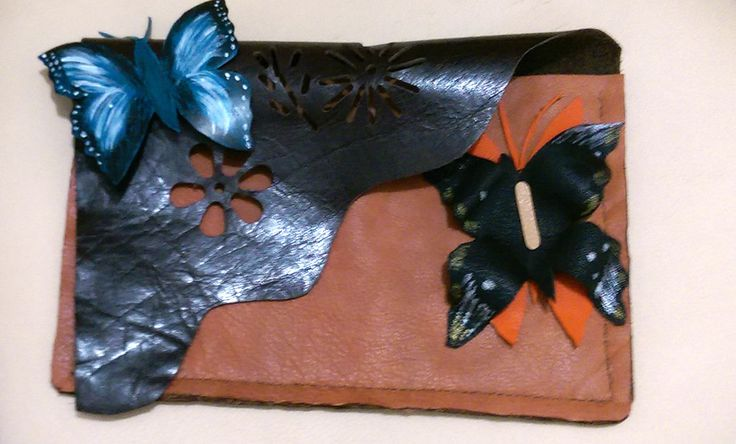 Leather envelope/ clutch/ hand made by DSTcraft on Etsy
