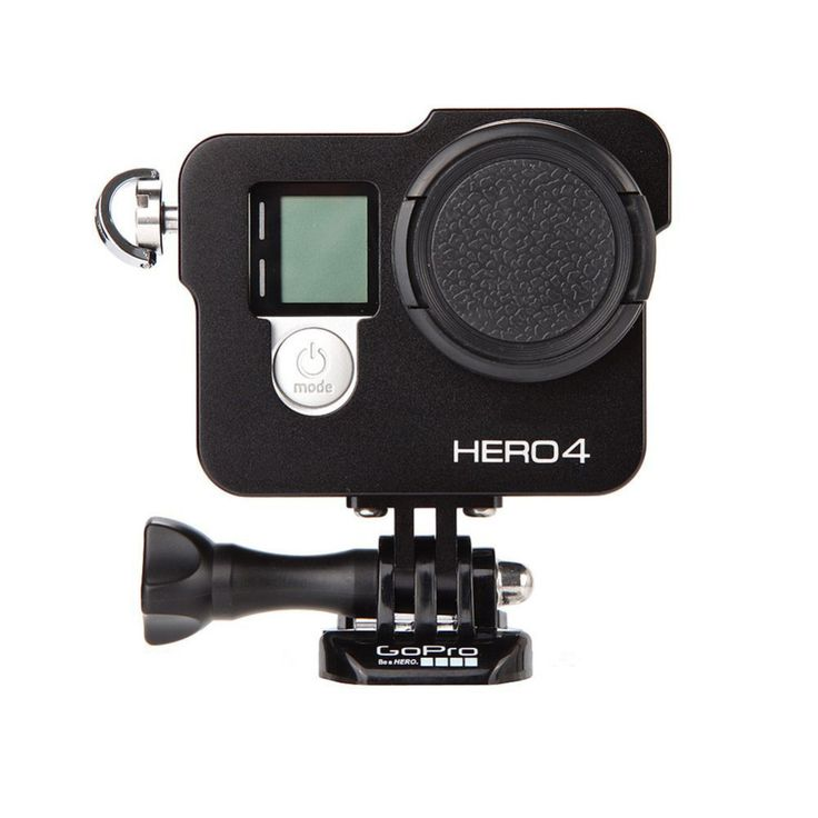 Black Color for Gopro Accessories CNC Aluminum Alloy Protective Housing Case Mount With 37MM UV Len For for GoPro Hero 4