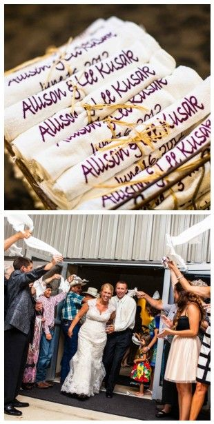 Aggie towel wedding departure- great picture!
