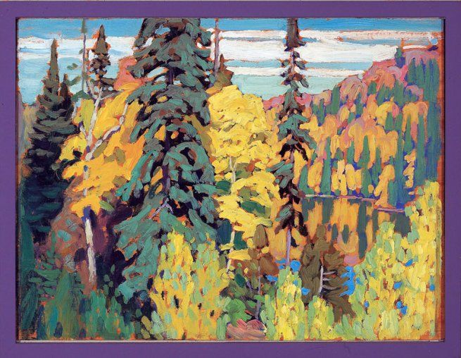 Lawren Harris. 'Trees and Pool' c. 1920, Canadian Group of Seven