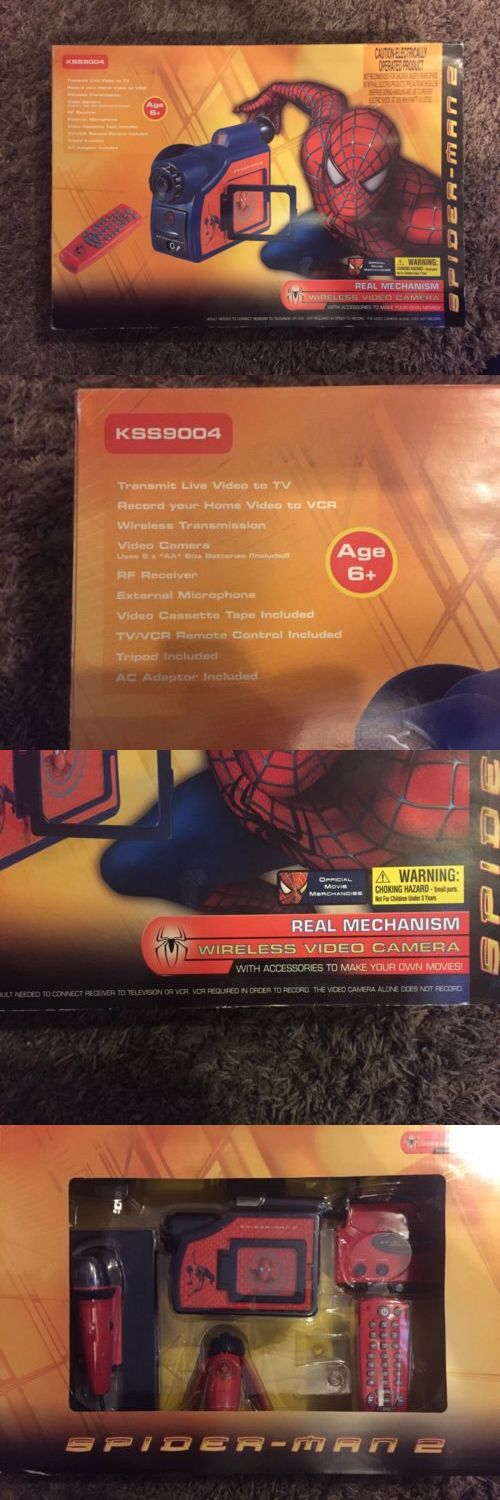 Surveillance Gadgets: Spider-Man 2 Real Mechanism Wireless Video Camera Marvel Comics 2004 Brand New BUY IT NOW ONLY: $84.99